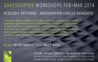 Workshop Grasshopper Livello Avanzato Milano Roma Febbraio Marzo 2014