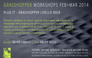 Workshop Grasshopper Base Milano Roma Febbraio Marzo 2014