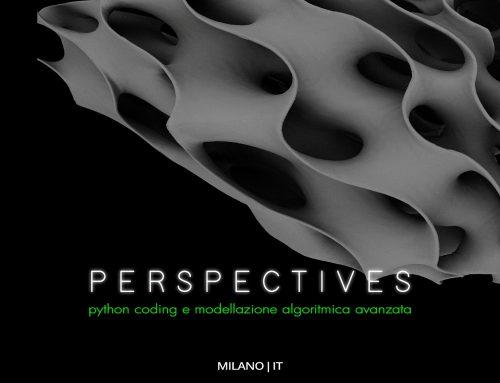 PERSPECTIVES | Livello Avanzato | Milano 27-29 Novembre 2020 (date originarie 12-14 Giugno 2020)